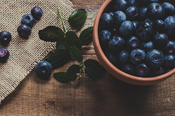 Photo shows blueberries with their antioxidants.
