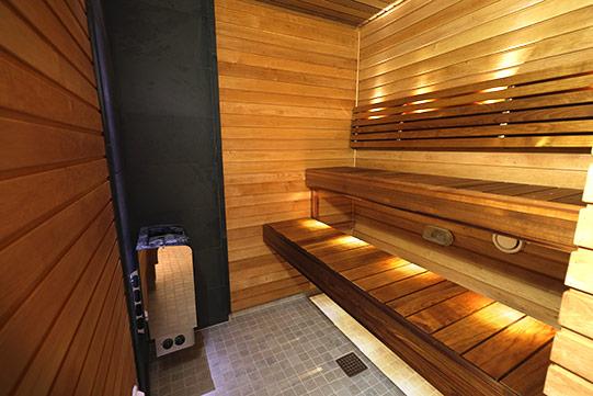 Photo shows Villa Cone Beach indoor sauna.